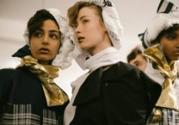 Fashion East F/W 2018 backstage at Topshop Showspace, London