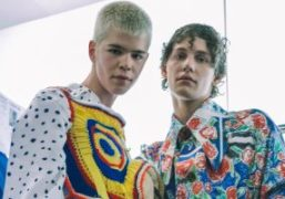 Charles Jeffrey LOVERBOY Men's S/S 2019 backstage at BFC Show Space, London