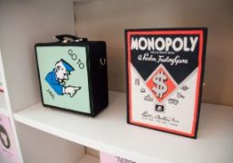 Olympia Le-Tan x Monopoly collaboration at Boutique Olympia Le-Tan, Paris
