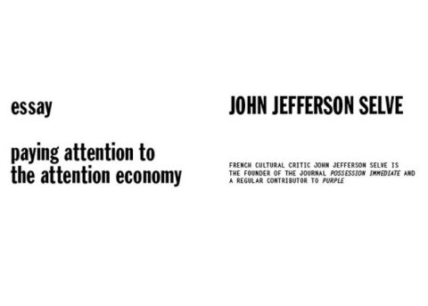 paying attention to the attention economy