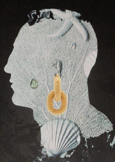 purple WANT: Gold-plated hoop earrings by Bottega Veneta
