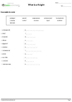 Word Scramble (Word Jumble) Anagram Worksheet Generator