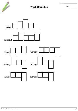 Word Shape Handwriting Practice Worksheet Generator