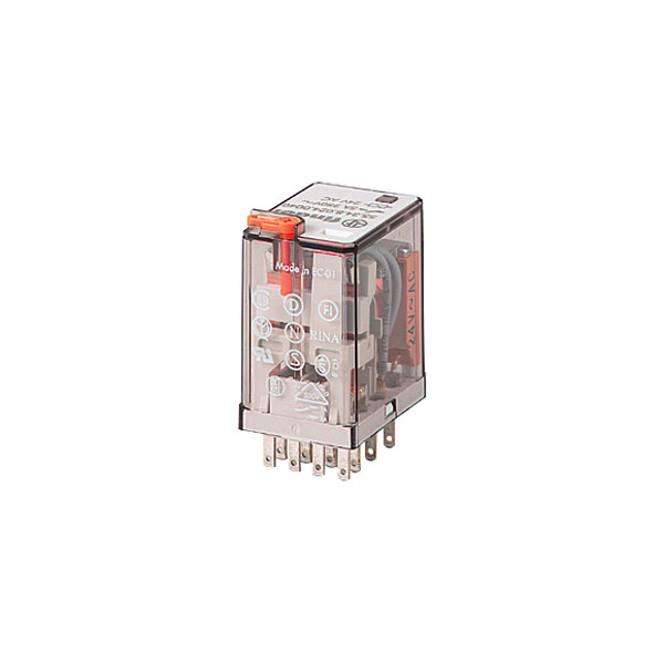 Finder 55.34.8.110.0040 Plug-in Relay 110VAC 7A 4PDT (AgNi) Contacts | Rapid Online