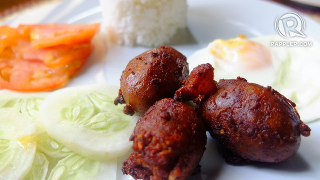 BREAKFAST OF CHOICE. You can't leave Vigan without tasting the city's famous longganisa