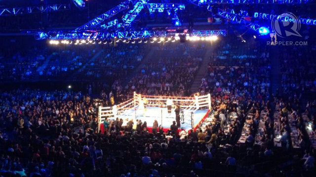 COTAI ARENA. Thousands are in Cotai Arena to watch the Manny Pacquiao vs Brandon Rios fight. Photo by Josh Villanueva/Rappler