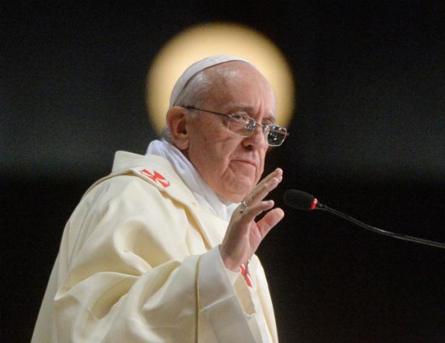 'GOSSIP MATA.  El Papa denuncia Francis chisme como asesinato.  Archivo de fotos de Luca Zennaro / EPA / piscina