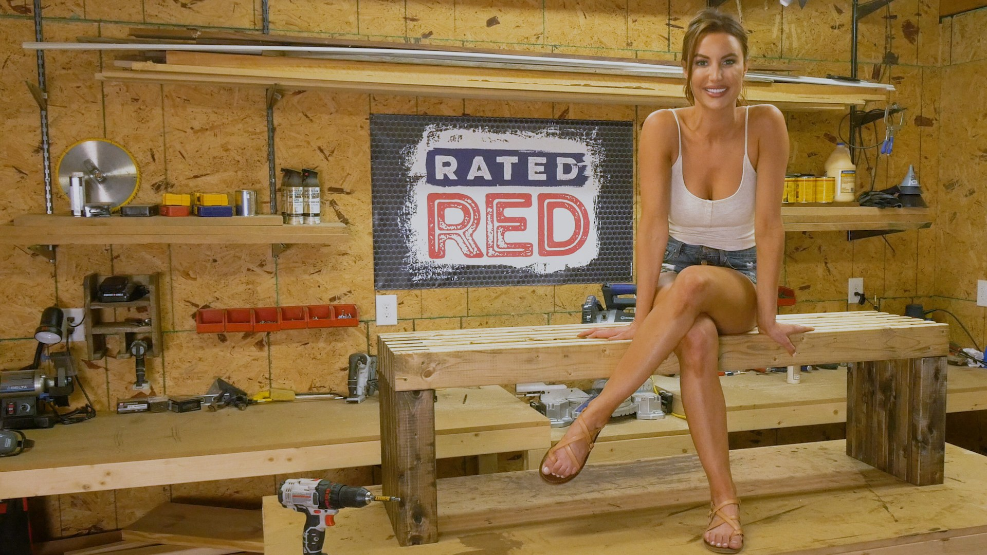 Rated Red Red Hot Buildin Outdoor Bench