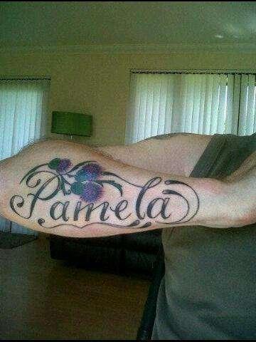 Pamela tattoo