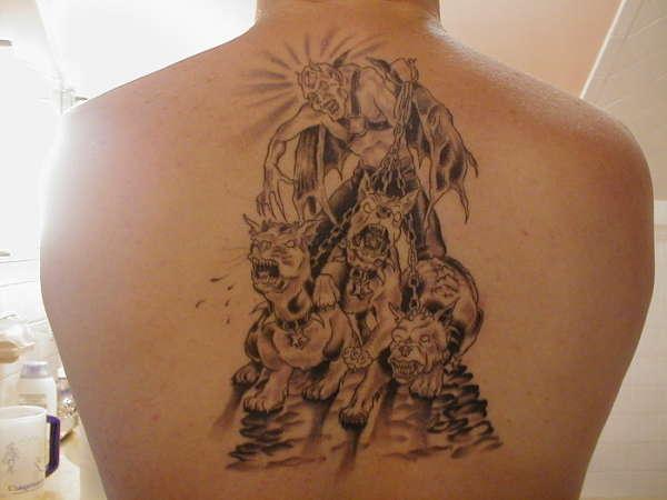 Lucifer Back Tattoos