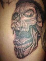 screaming skull. tattoo