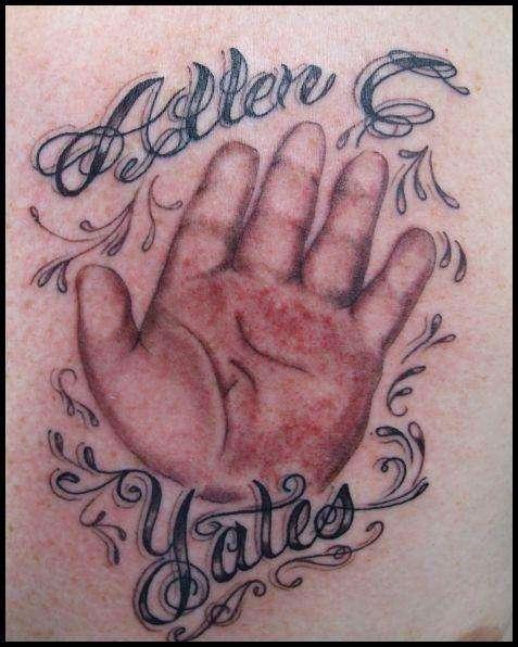 Baby Hand Print Tattoo