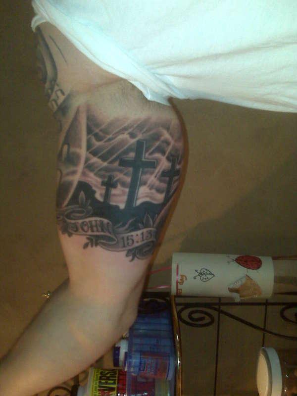 Three Crosses On A Hill Tattoo : three, crosses, tattoo, Luxury, Three, Crosses, Tattoo