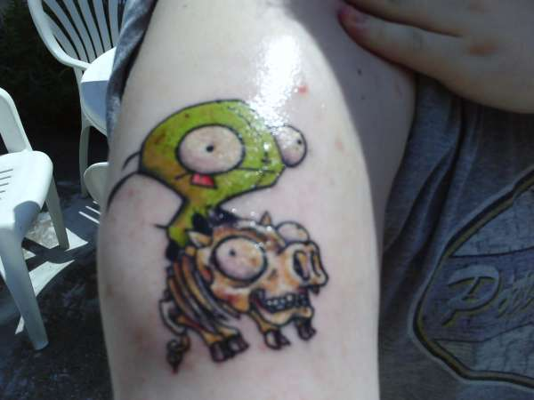 Invader Zim Pig Tattoo