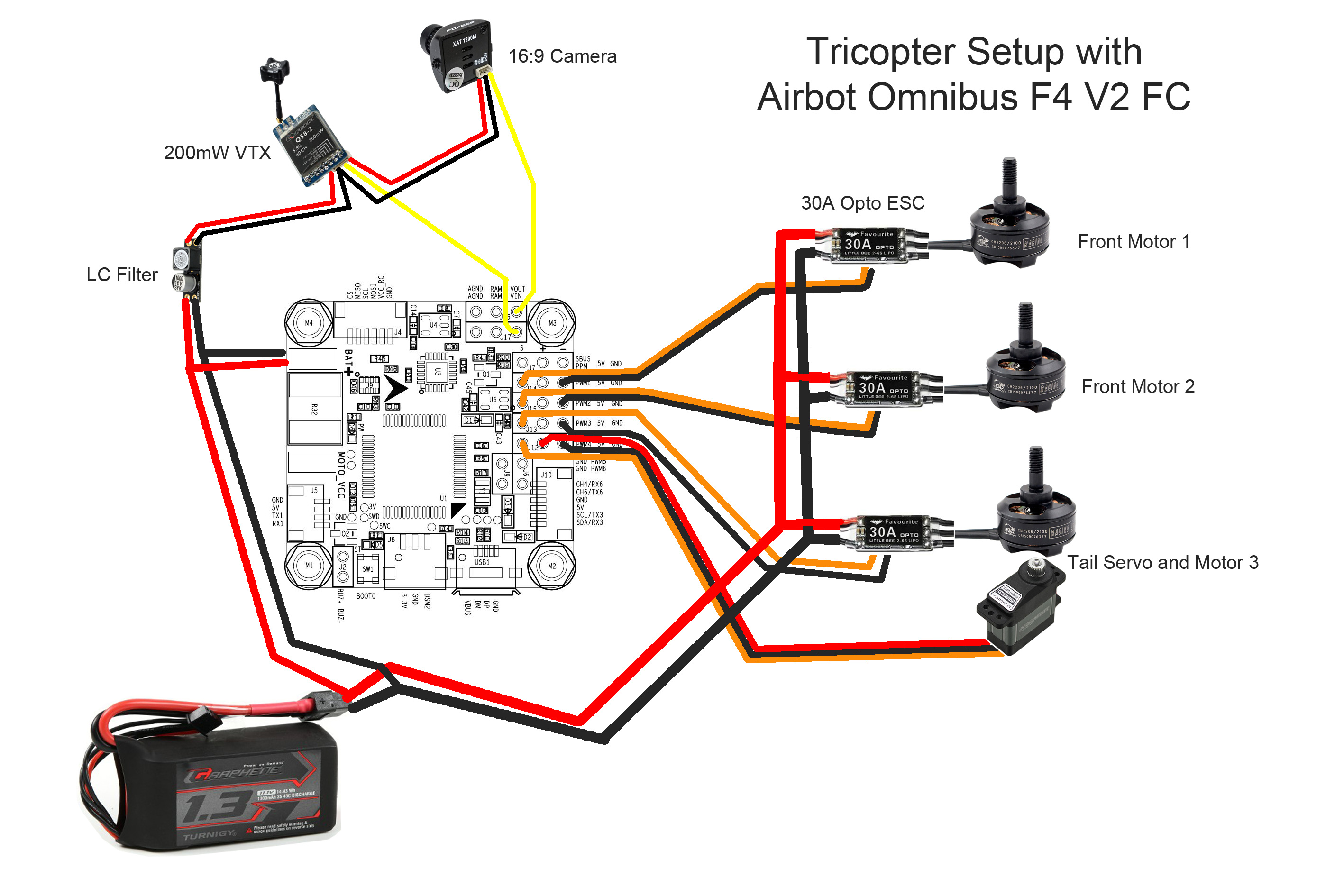 medium resolution of tricopter wiring diagram owner manual u0026 wiring diagram bec wiring diagram for fpv