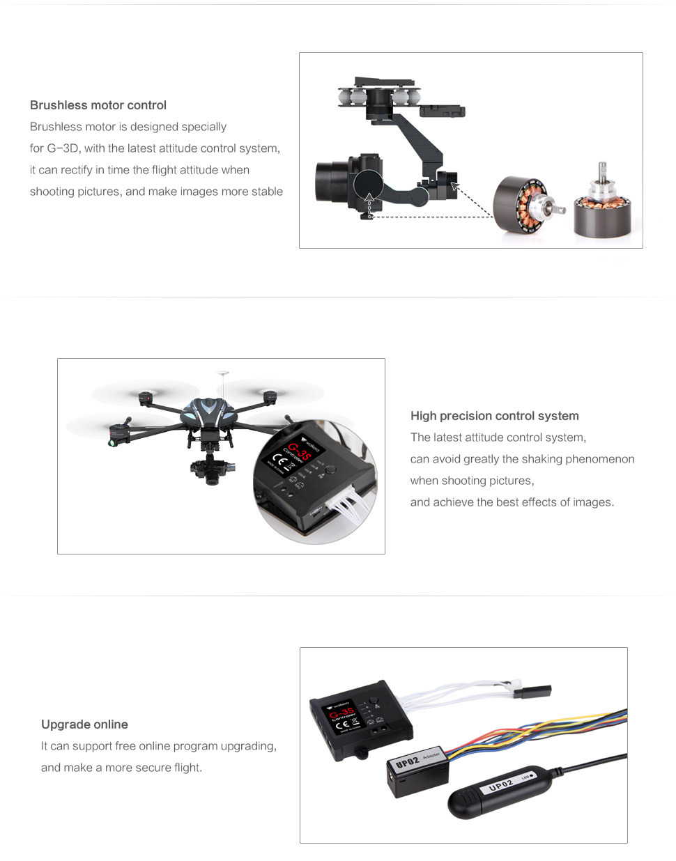 Walkera Sony RX100 G-3S Brushless Gimbal for cinematic