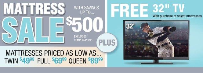 Mattress Free 32 Inch Tv