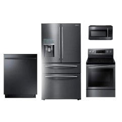 Kitchen Appliances Set Modern Table Sets Samsung 4 Piece Appliance Package Black