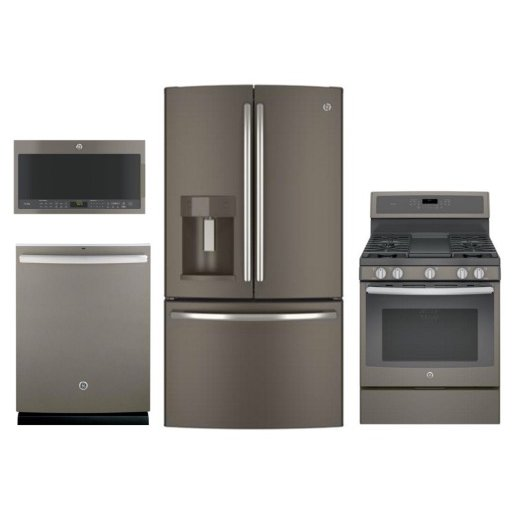 GE 4 Piece Kitchen Appliance Package  Slate  RC Willey