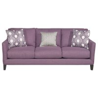 Elsa Purple Upholstered Contemporary Sofa   RC Willey ...