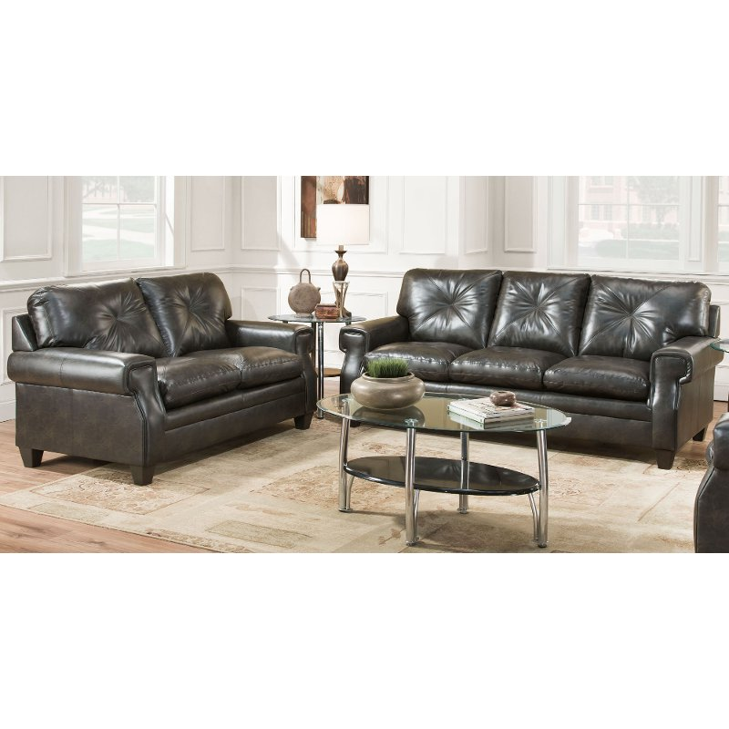 Photo courtesy of ann lowengart photo by: Classic Contemporary Dark Brown 2 Piece Living Room Set ...