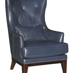 Blue Accent Chairs For Living Room Ergonomic Back Pain India Cobalt Leather Match Chair And Ottoman
