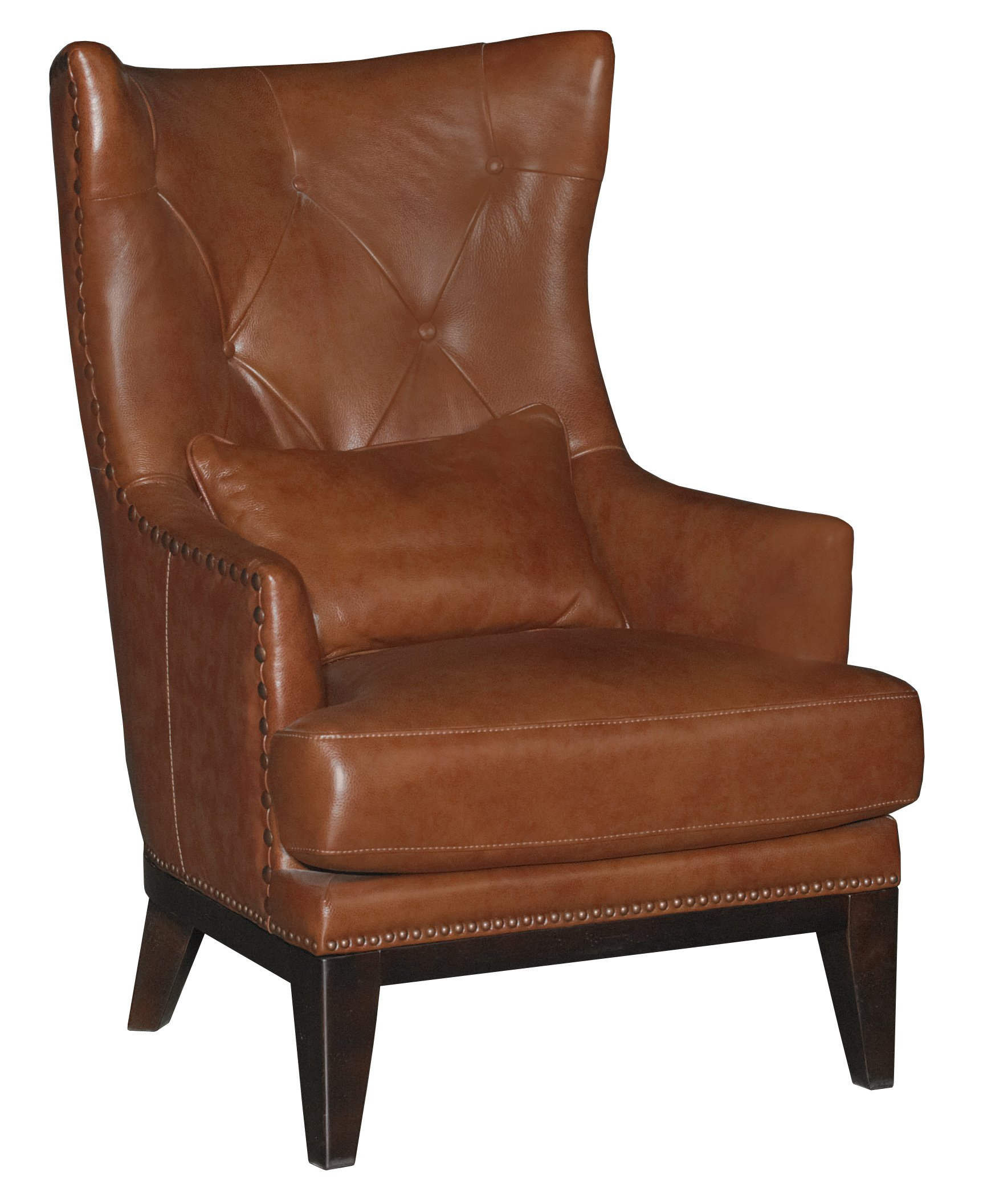 Brown Accent Chairs Chestnut Brown Leather Match Accent Chair And Ottoman