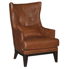 Brown Accent Chair With Ottoman White Lounge Cushions Chestnut Leather Match Brewster Rc Willey Furniture Store