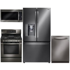 4 Piece Stainless Steel Kitchen Package How Much Cost Remodeling Lg Appliance With Gas Range Black Rc Willey Furniture Store
