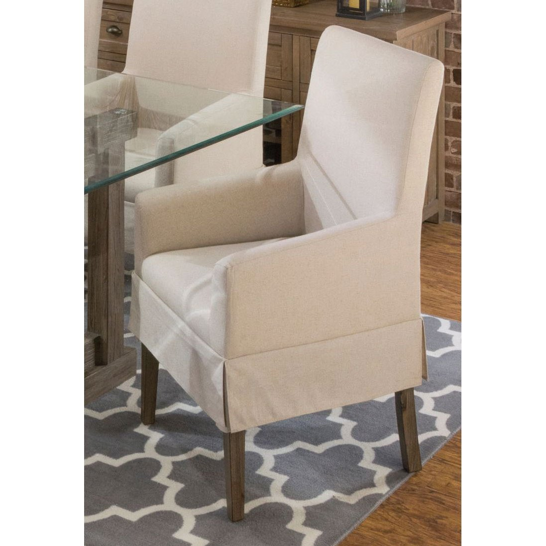 dining arm chair covers jazzy battery contemporary slipcover hampton rc