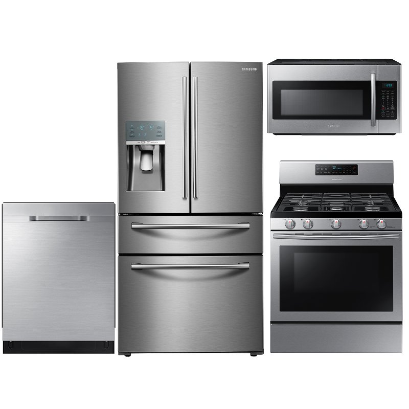 Samsung 4 Piece Kitchen Appliance Package  Stainless Steel  RC Willey Furniture Store