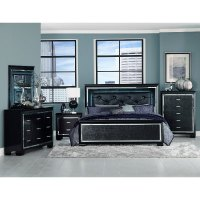 Contemporary Black 5 Piece King Bedroom Set - Allura | RC ...