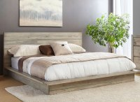 White-Washed Modern Rustic 6 Piece King Bedroom Set ...