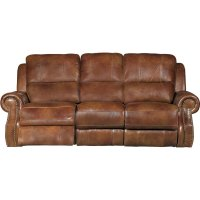 Dual Reclining Leather Sofa Furniture Leather Loveseat ...