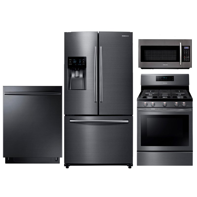 Samsung Gas Kitchen Appliance Package with Gas Range