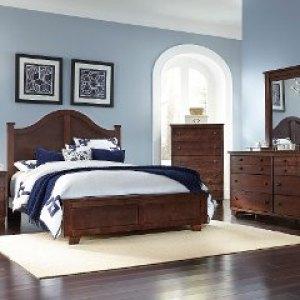 Espresso Brown Contemporary 6 Piece Full Arch Bedroom Set Go