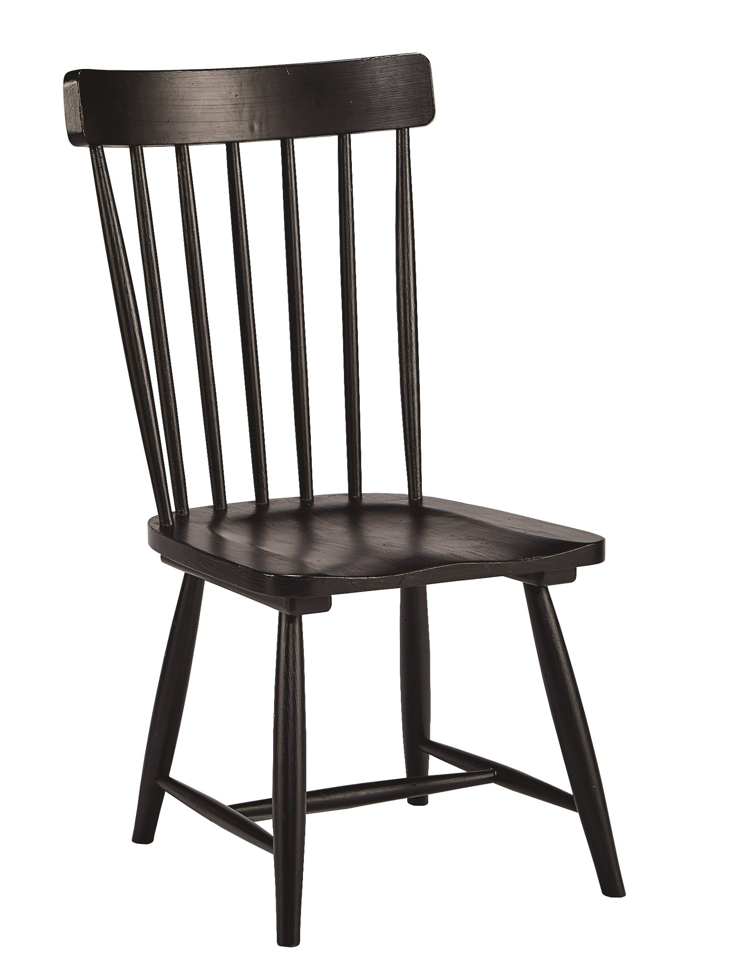 distressed black dining chairs big joe milano chair magnolia home furniture white and 7 piece set