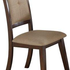 Espresso Dining Chair Herman Miller Aeron 5 Piece Round Set Barney Collection Rc