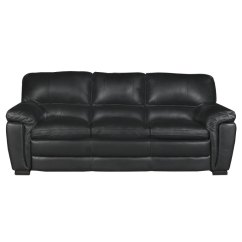 Black Leather Sofa 60 Inch Rv Bed Casual Contemporary Tanner Rc Willey Furniture Store