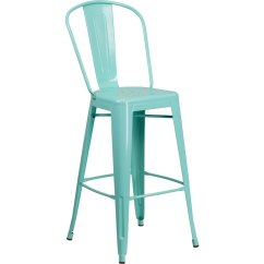 Green Metal Bistro Chairs Indoor Wicker Chair With Ottoman Mint 30 Inch Bar Stool Rc Willey Furniture Store