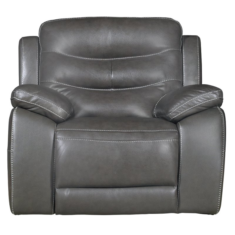 glider recliner chair folding argos charcoal gray leather match power shawn rc willey furniture store