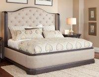 Dark Oak & Linen Traditional 6 Piece King Bedroom Set ...