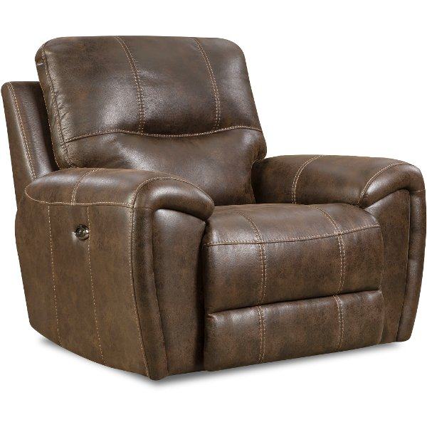 recliner chair leather mission plans browse reclining chairs and rc willey chocolate brown manual glider desert