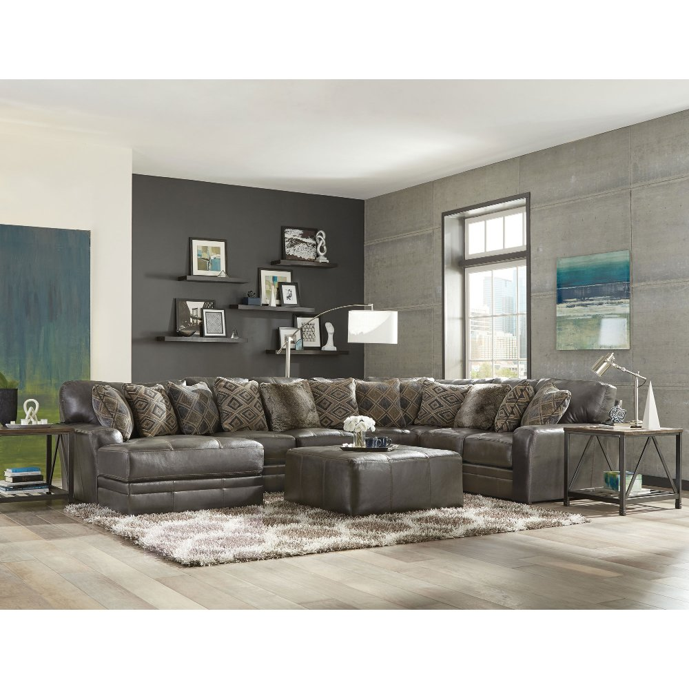 Gray Leather Sofa Living Room  Review Home Decor