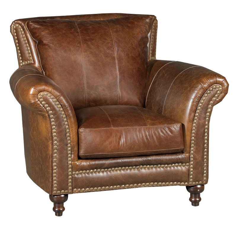 Classic Traditional Brown Leather Chair  Butler  RC