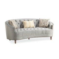 Classic Sofa Pale Grey Leather Traditional Gray Curved Elegance Rc Willey Furniture Store