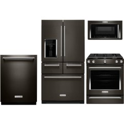 Kitchenaid Kitchen Stools Walmart 4 Piece Appliance Package With 5 8 Cu Ft Gas Range Black Stainless Steel Rc Willey Furniture Store
