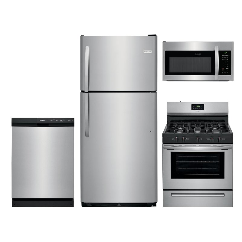 Frigidaire Stainless Steel 4 Piece Kitchen Appliance Package with Gas Range  RC Willey