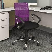 Purple Mesh Back and Black Office Chair   RC Willey ...