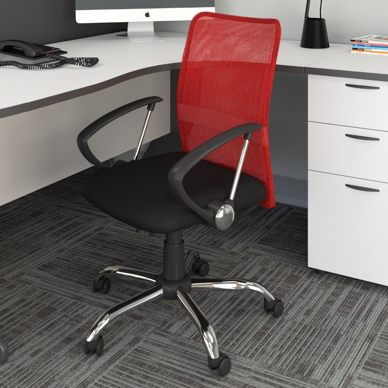 office chair mesh banquet covers wholesale red and black workspace rc willey furniture store